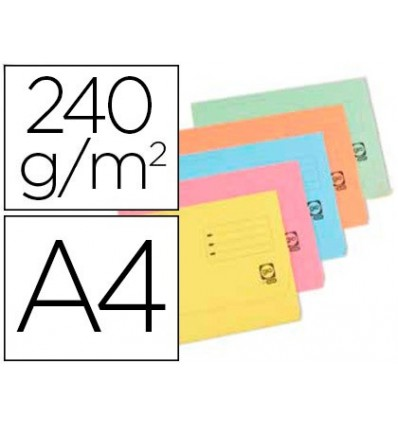 SUBFOLDER CARDBOARD ELBE DIN A4 WITH FLAP AND BAG PACK OF 25 UNITS ASSORTED Hot COLORS 240 GR