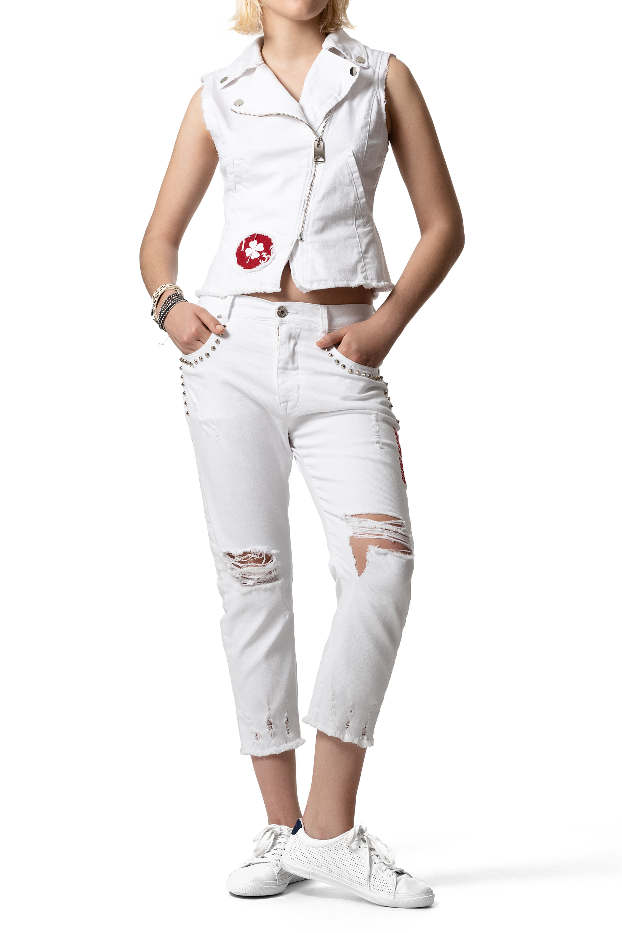 CUPID KILLER COLLECTION Laredo White color jeans for Women CK000142-1