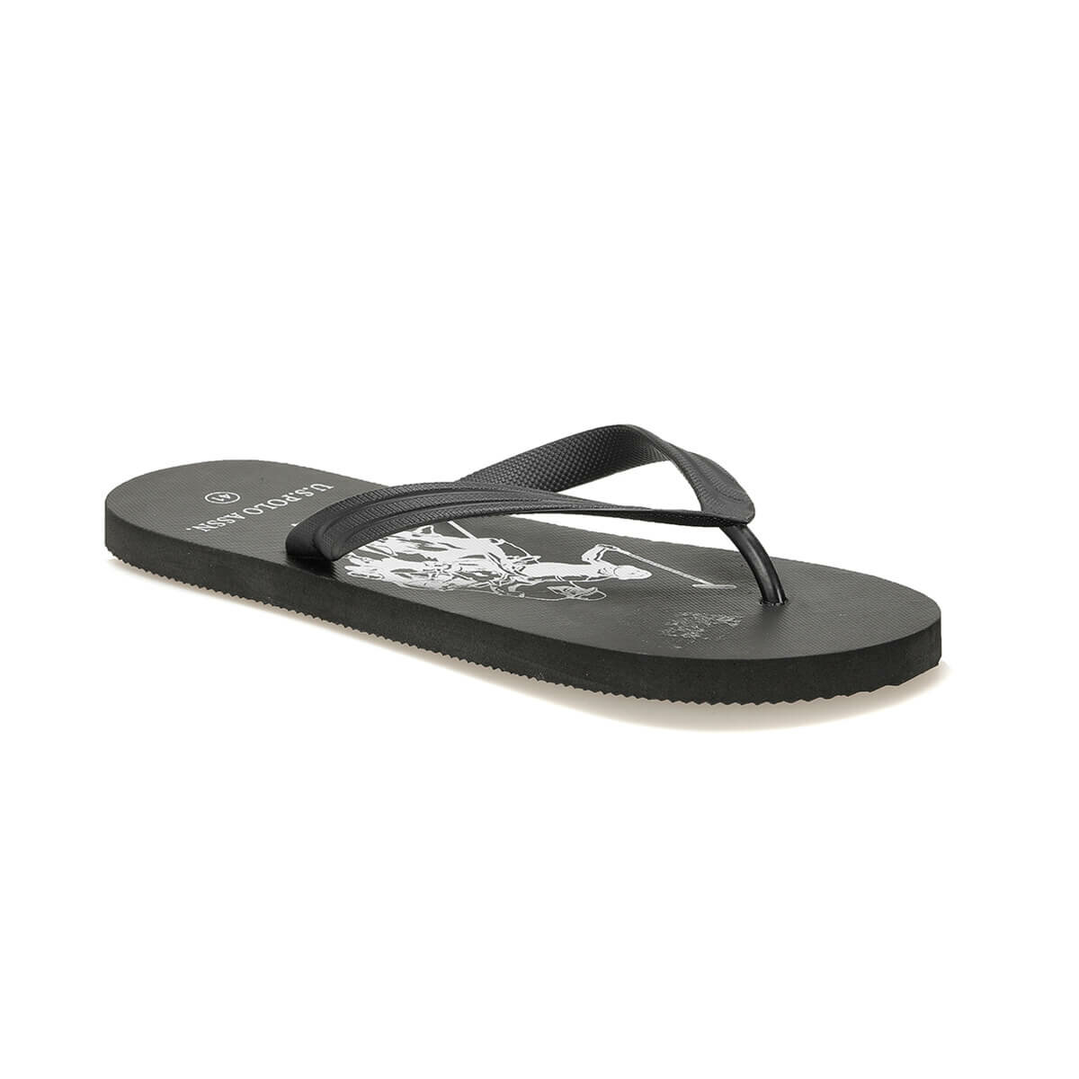 FLO ALLYSON Black Male Slippers U.S. POLO ASSN.