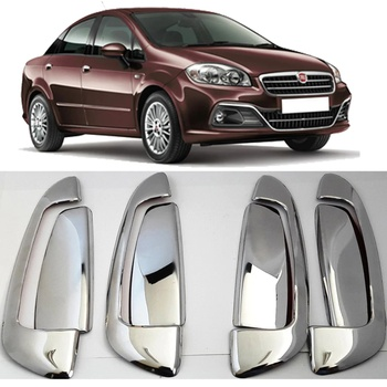 For Fiat Linea Door Handle Frame Chrome Nickel-plating Accessories Modified Tunnıng Design Free Fast Shipping Designed Shaper