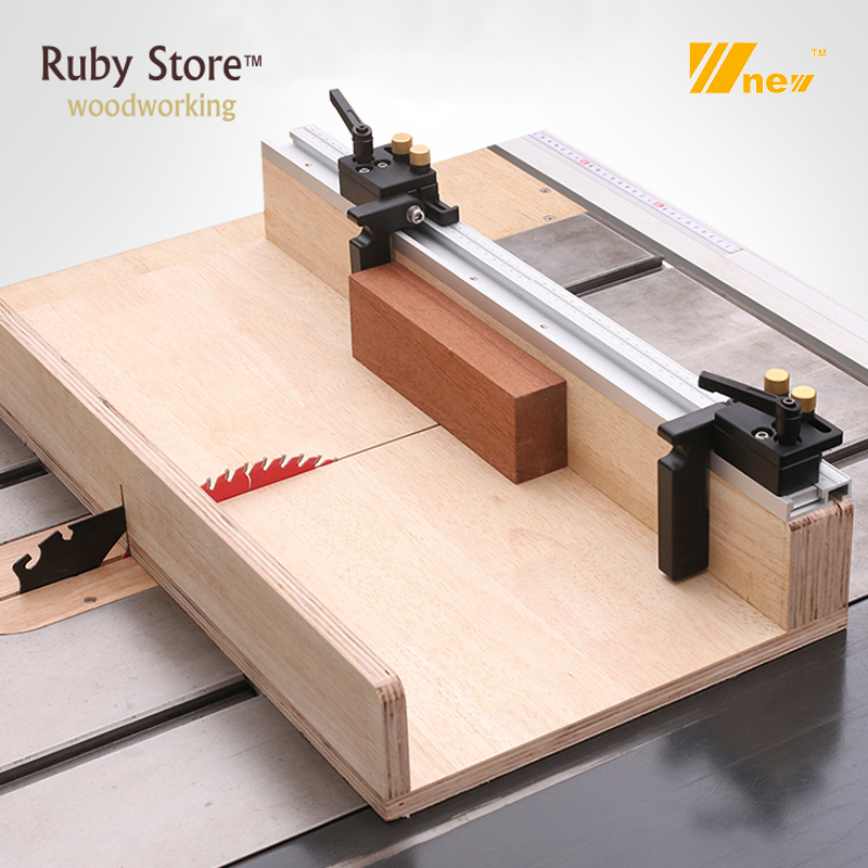 Flip Stop For 45mm T-Track With Adjustable Scale Mechanism, Miter Sled For Table Saw