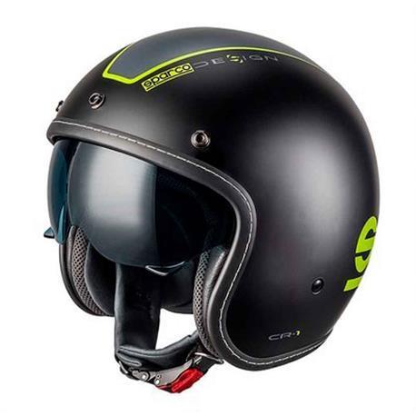 Sparco motosiklet kask Cafe Racer ABS Tg S Nrgf title=