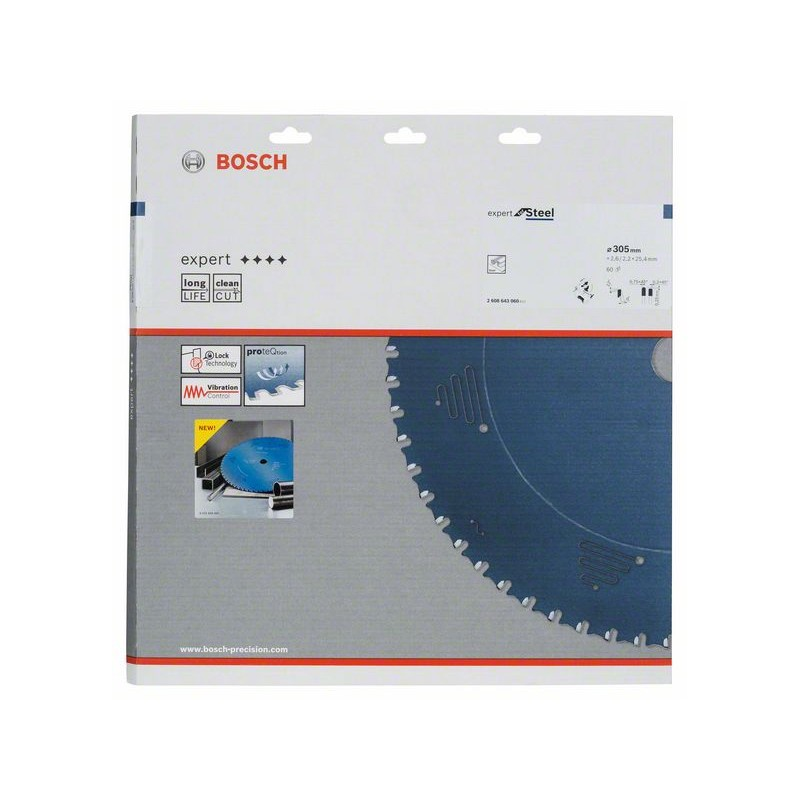 BOSCH-Hoja circulate saw Expert for Steel 305x25,4x2,6mm 60