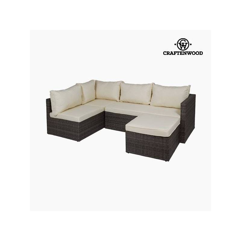 Sofa Set And Puff (2 Pcs) By Craftenwood