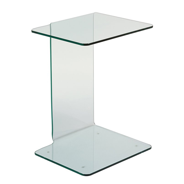Side Table (45 X 40 X 60 Cm) Curved Glass