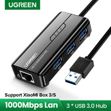 Ugreen-adaptador de red Ethernet para Xiaomi Mi Box 3/S, USB 3,0 2,0 a RJ45, tarjeta de red, Lan