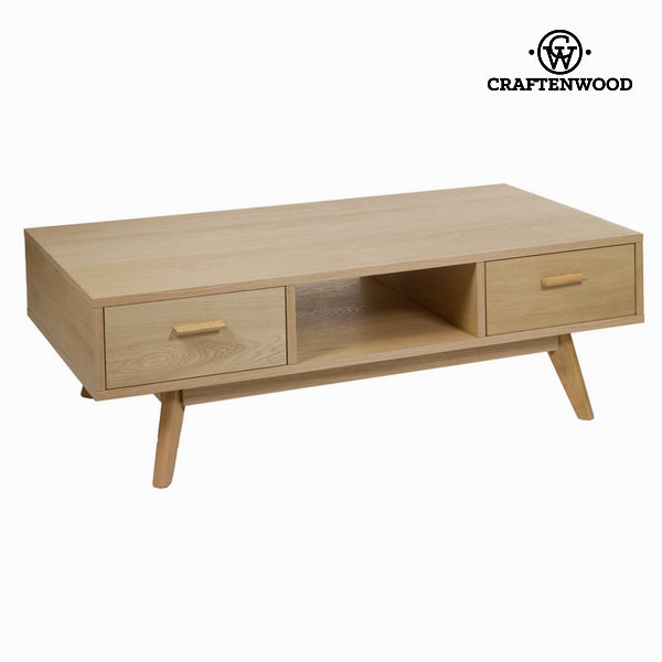 Oak Coffee Table With 2 Drawers - Modern Collection By Craftenwood