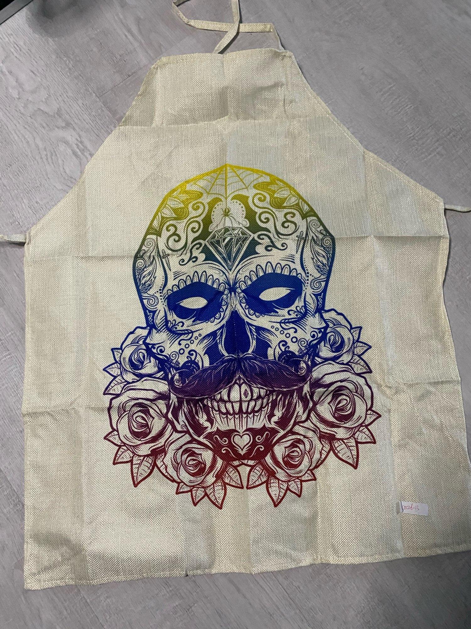Skull Kitchen Textile Coquelicot Apron photo review