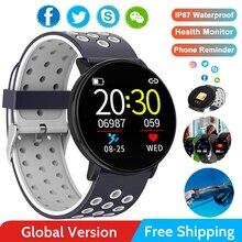 Bluetooth, Смарт часы, мужские, кровяное давление, круглые, умные часы, женские часы, водонепроницаемые, спортивный трекер, приложение ip68 для Android Ios