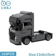 MOC High-Tech Truck Tractor Car Model Toy Building Blocks Transport Vehicle DIY Bricks Set Kids Toys For Children Birthday Gifts