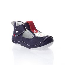 MyWondry Genuine Leather Summer Burgundy Striped Navy Blue Boy Baby  Anatomical First Step Shoes
