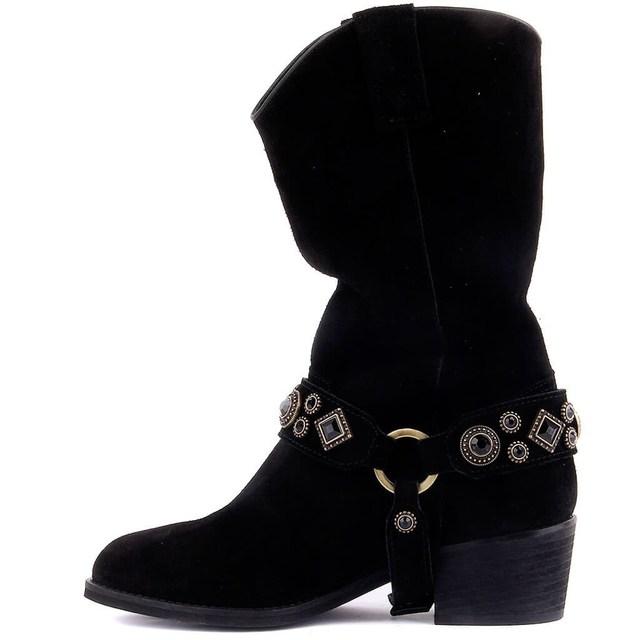 Sail Lakers-Suede Zipper-less Women's Long Boots