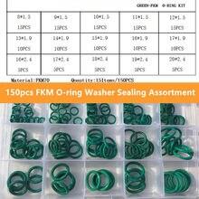 150 шт/компл уплотнительные кольца резиновое зеленое уплотнительное