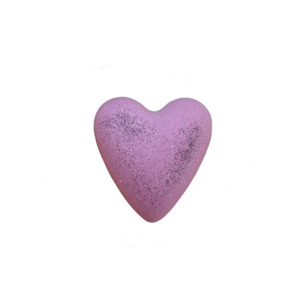 Creatulote Heart Bomb Fizzy Jasmine, With Glitter, Pink Colour, 4 Units, Spa, Bath Bombs