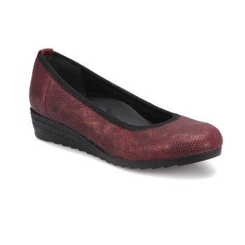 FLO TRV1020 burgundowe buty damskie Polaris tanie i dobre opinie Trzciny
