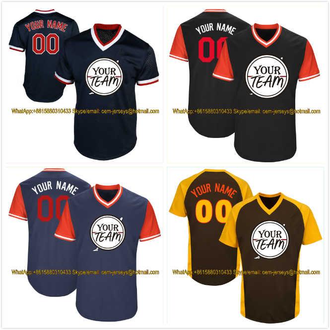 China Factory OEM Professional Custom Baseball Jerseys Stitch Company Team Logo Name Number Softball Uniforms Pullover T-Shirts