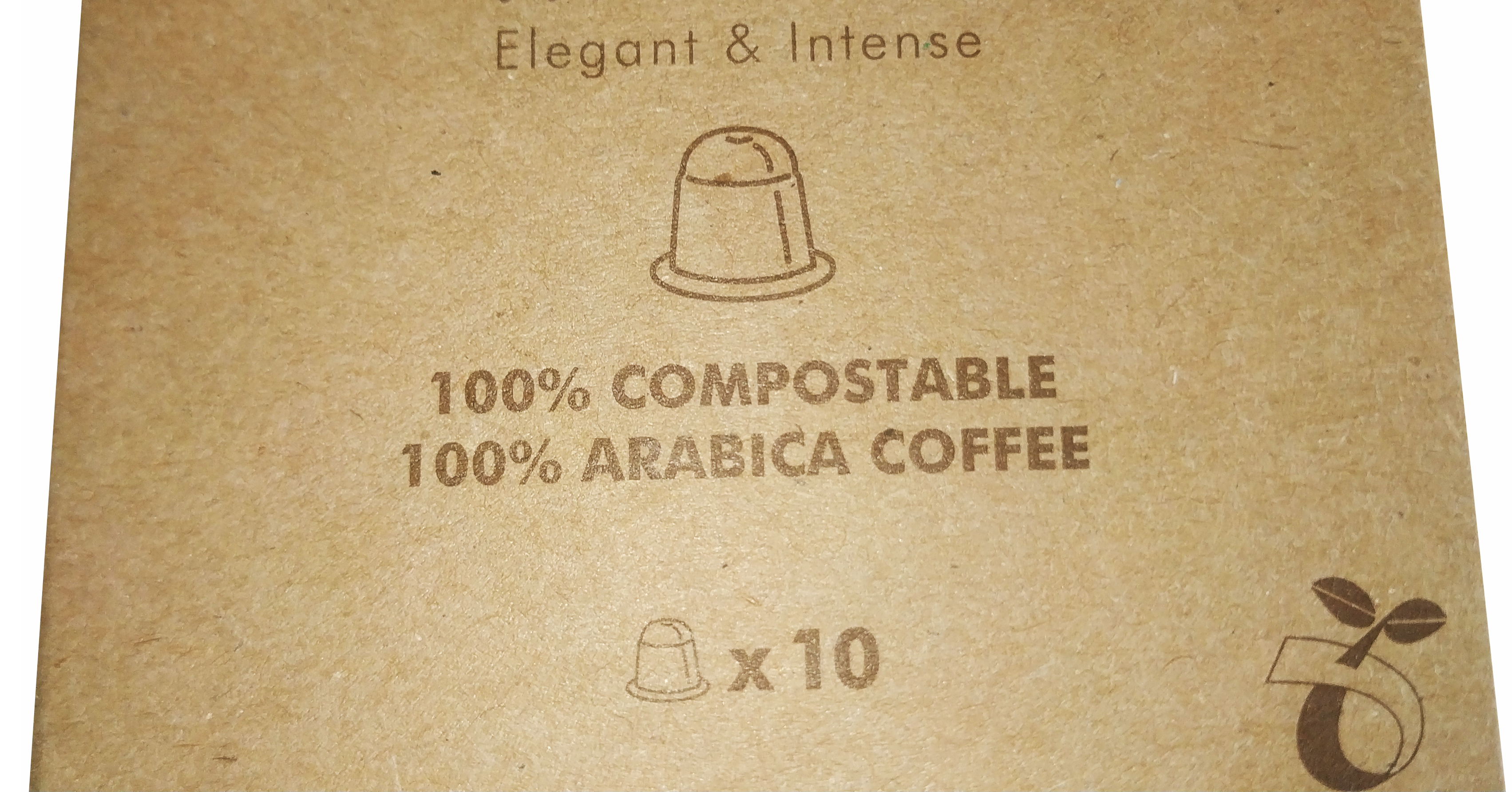 IDIGIO ecologically compostable coffee capsules compatible with Nespresso coffee machines®️