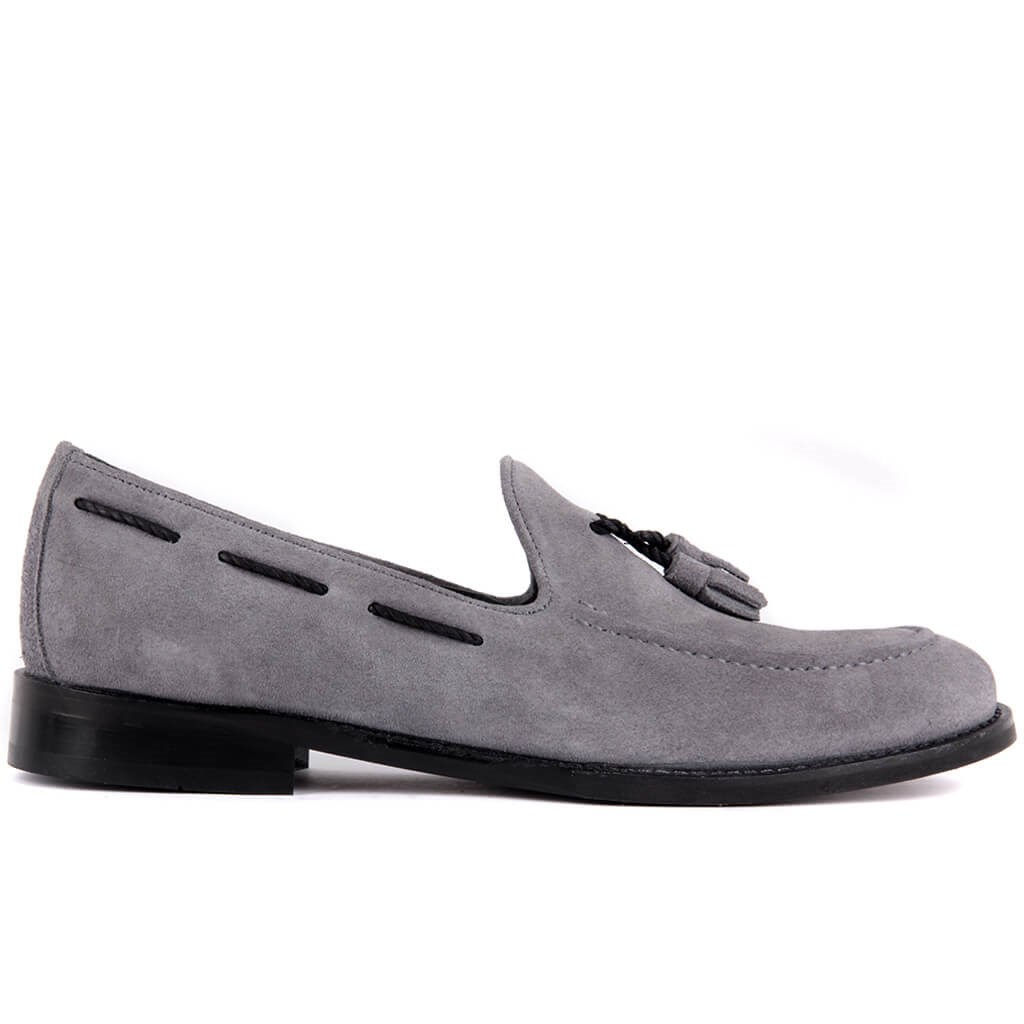 Sail Lakers-Gray Men 'S Casual Suede Shoes
