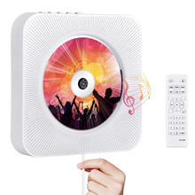 Wall CD Player With Bluetooth Remote Control Wall Mounted Home Stereo FM Radio HiFi Loudspeaker Boombox Discman Lecteur CD