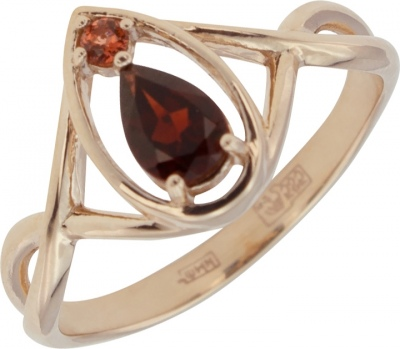 Aloris Ring With 2 Grenades In Red Gold