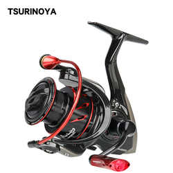 TSURINOYA Spinning Fishing Reel WHIRLWING Anti-corrosion Metal Spool 8+1BB 800 1000 2000 3000 4000 5000 Long Casting Smooth Coil