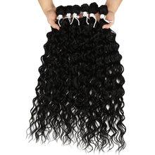 Синтетический афро кудрявый пучок волос черный 24 28 дюймов