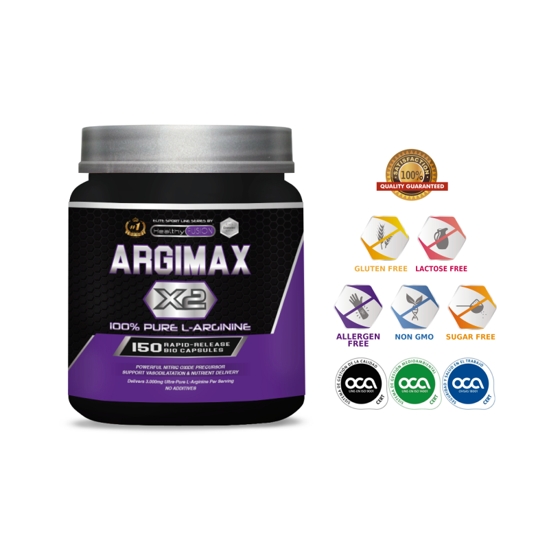 ARGIMAX X2-3 Grams L-ARGININE 100% Pure By Dose-Powerful Forerunner Nitric Oxide And Absorption Nutrient.
