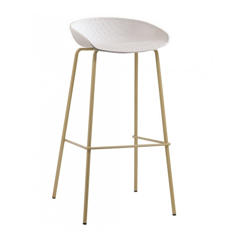 Stool LARIOS Metal White Polypropylene