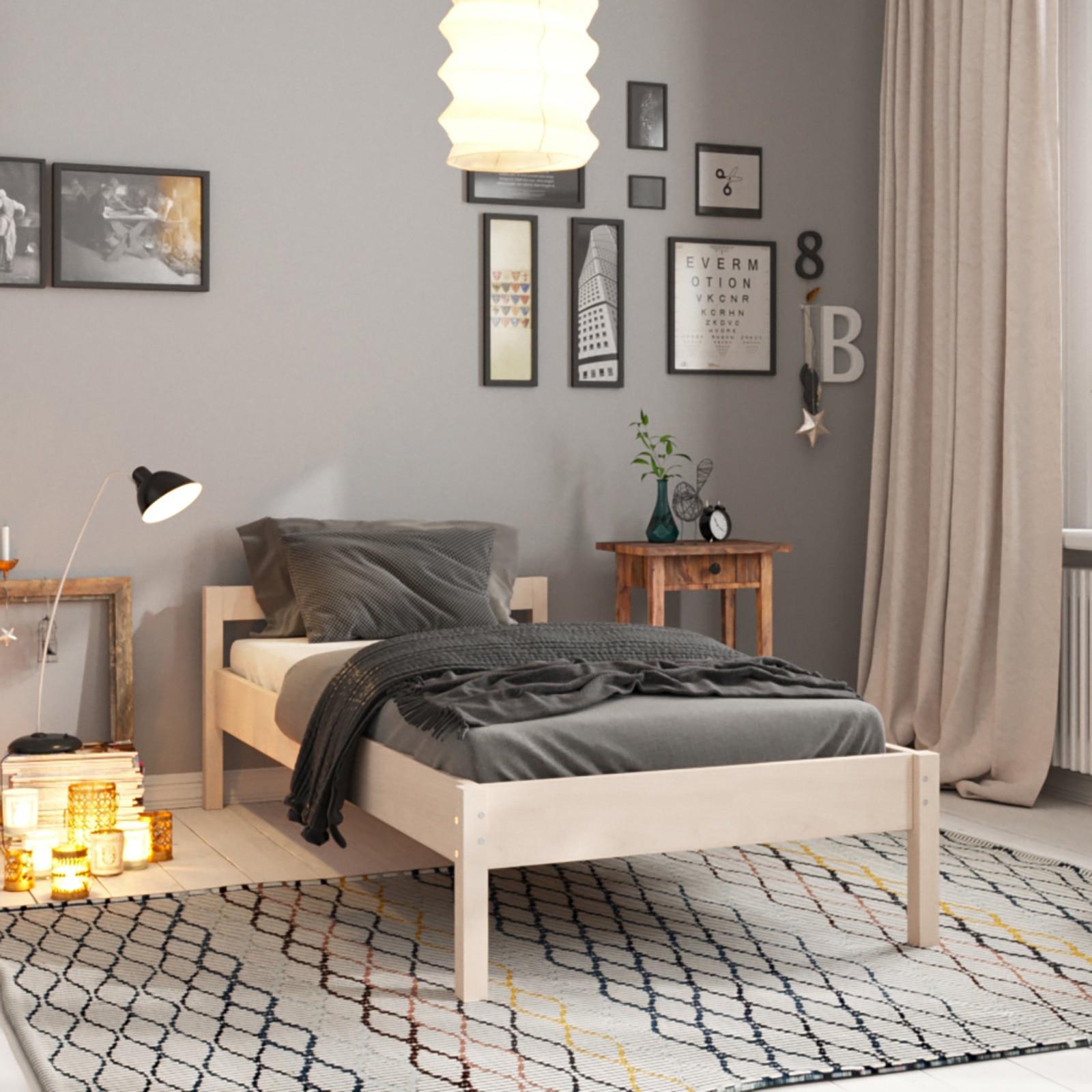 Односпальная деревянная кровать Hansales 100x200 см для здорового и крепкого сна