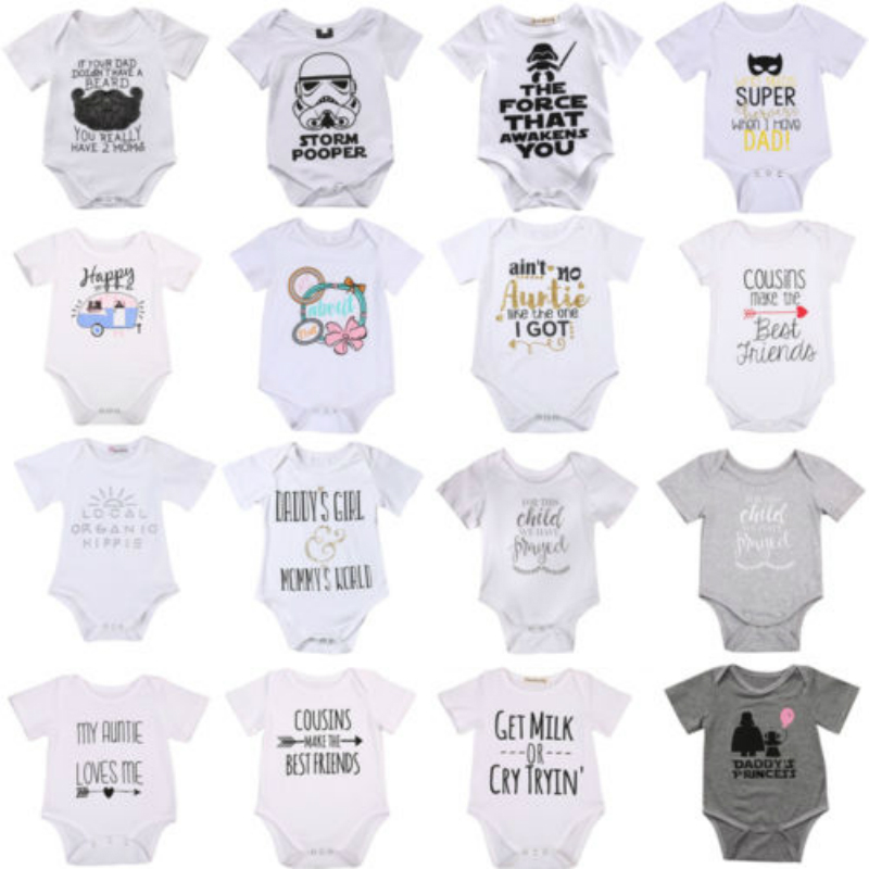 2018 Newborn Baby Boys Girls Infant Romper Jumpsuit Clothes Outfits Toddler O Neck Pullover Romper Outfit New Hot