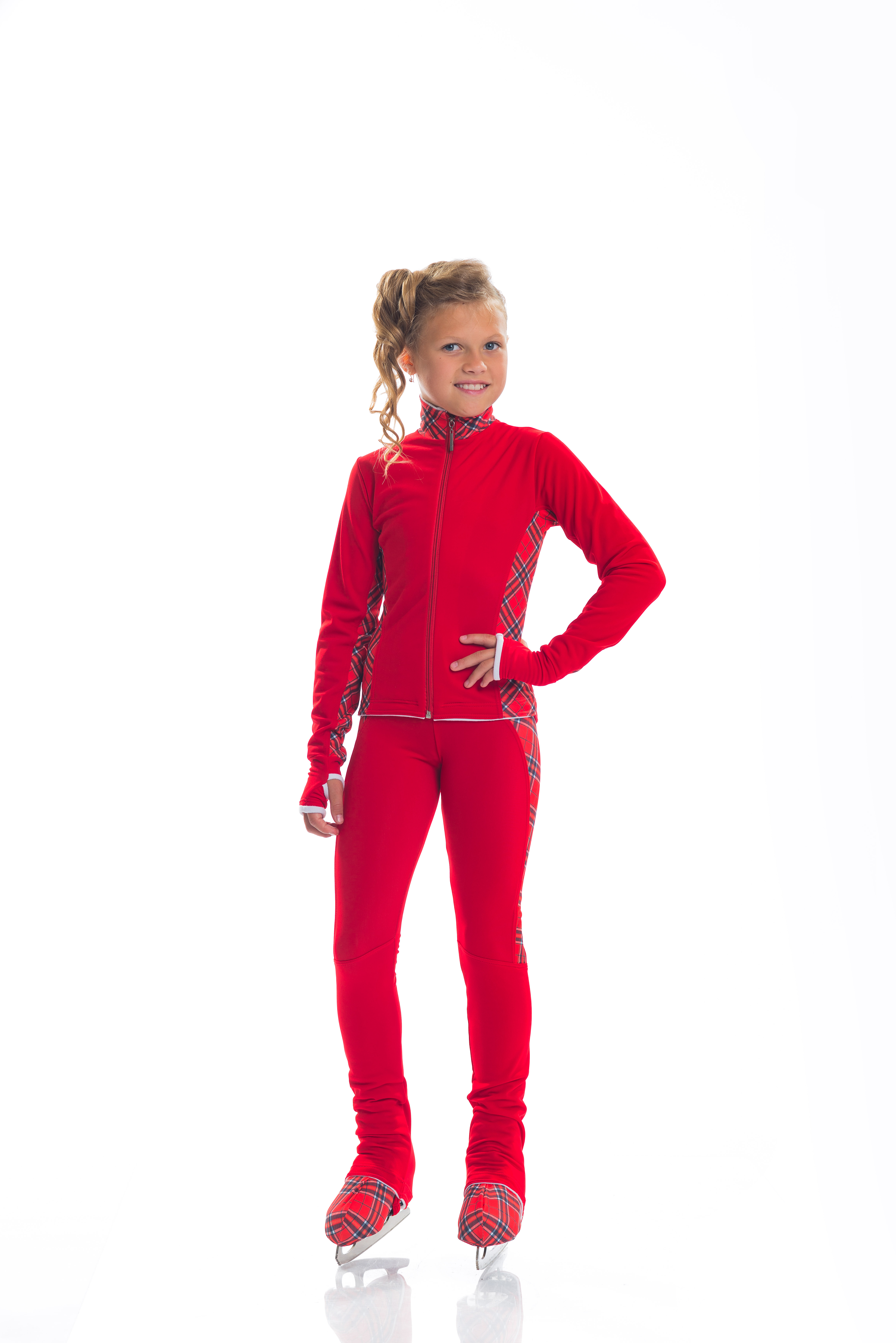 CHILDREN 'S SWEAT THERMAL SUIT FOR FIGURE SKATING FOR GIRLS,