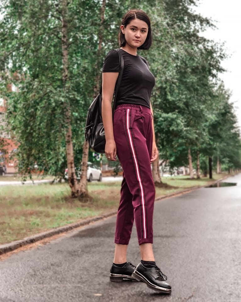 Women Elegant Side Stripe Pants Elastic Waist Green Black Ladies Autumn Casual Streetwear Fashion Trousers Mujer photo review