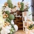 Wayfun Macaron Green Balloons Garland Chain Happy Birthday Balloons Decoration Kids Baby Shower Wedding Valentine Party Supplies