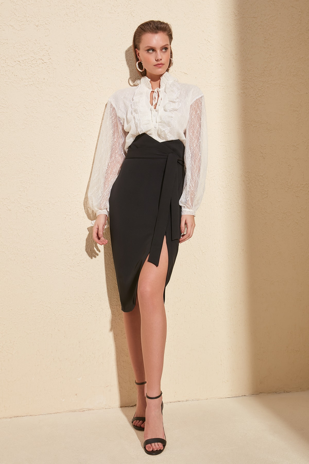 Trendyol Belt Detail Skirt TPRSS20ET0042
