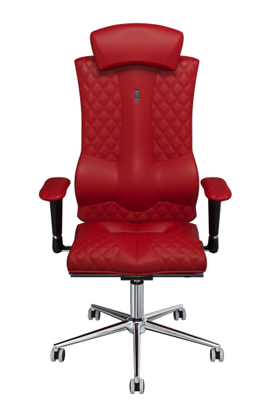Office Chair KULIK SYSTEM ELEGANCE Red Computer Chair Relief And Comfort For The Back 5 Zones Control Spine