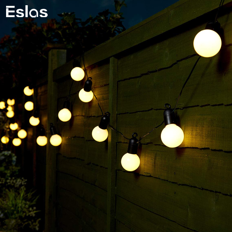 Eslas LED String Light Outdoor Fairy Lights Garland 5M 20 Bulbs Waterproof IP65 Garden Patio Wedding Christmas Decoration Light