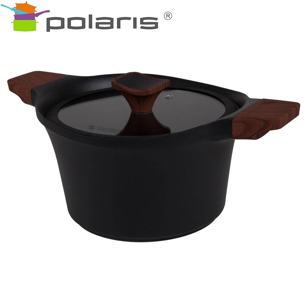 Pan Polaris Madera-24C Kitchen Pans Non-stick Pan with lid все цены