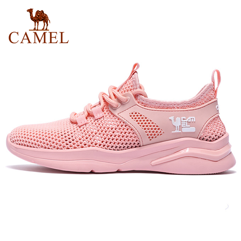 CAMEL Sports Shoes Women Men Running Shoes Summer Breathable Mesh Shoes Women's Fitness Shoes Men's Leisure Running Shoes