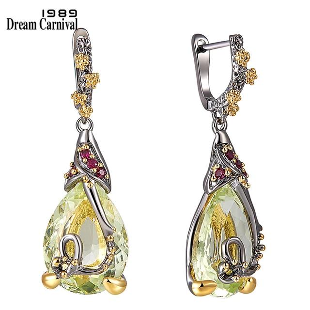 DreamCarnival 1989 New Water Drop Cubic Zircon Earrings For Women Copper Dangle Earings Fashion Accessories Gift Hot Pick WE3876