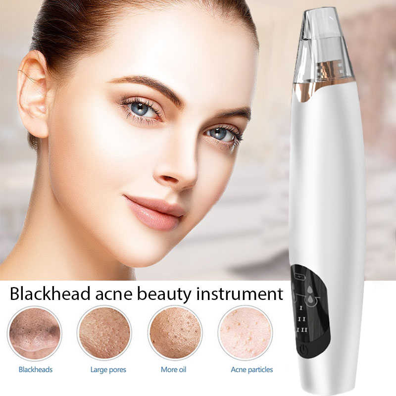 Komedo Remover Alat Perawatan Kulit Pori Vacuum Jerawat Jerawat Penghapusan Vakum Isap Facial Diamond Dermabrasi Mesin Pembersih Wajah
