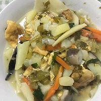 冬笋炒雪里蕻咸菜的做法图解12
