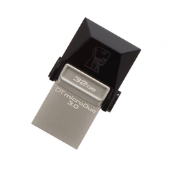 USB y Micro lápiz de memoria USB Kingston DTDUO3 32 GB USB 3,0 negro gris