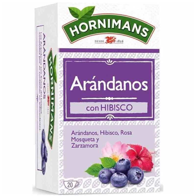 Infusion Blueberries With Hibiscus, Rosehip And BlackBerry, 20 Bags Hornimans