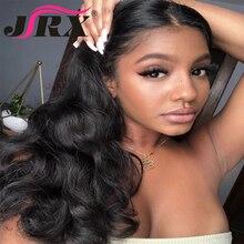 JRX волосы волнистые полный парик шнурка с волосами младенца натуральный цвет бразильские Remy девственные человеческие волосы предварительно сорванные 150% плотные парики