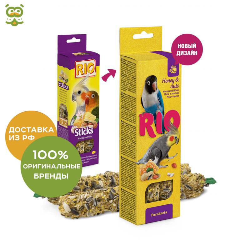 RIO Sticks For Medium-sized Parrot With Honey And Nuts (75g.), Without Characteristics