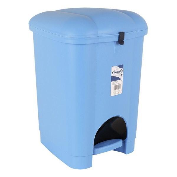 Ev ve Bahçe'ten Katlanabilir Depolama Çantaları'de Pedallı çöp kutusu Tontarelli plastik mavi title=