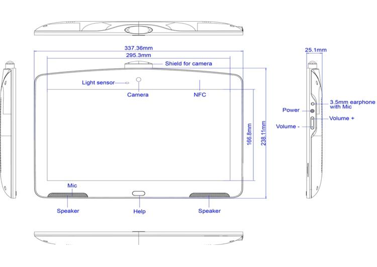 13,3 дюймовый белый планшет Android POE идеально подходит для больничного интерактивного дисплея, киоск самообслуживания с 10-точечным сенсорным экраном FHD IPS-4