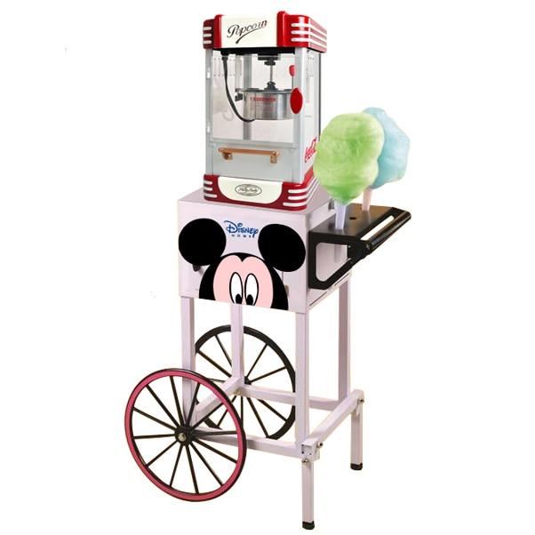 Electric American Style Popcorn Machine Automatic Hot Oil Popcorn Maker Stainless Steel Non-stick Pot Popcorn Making Machine