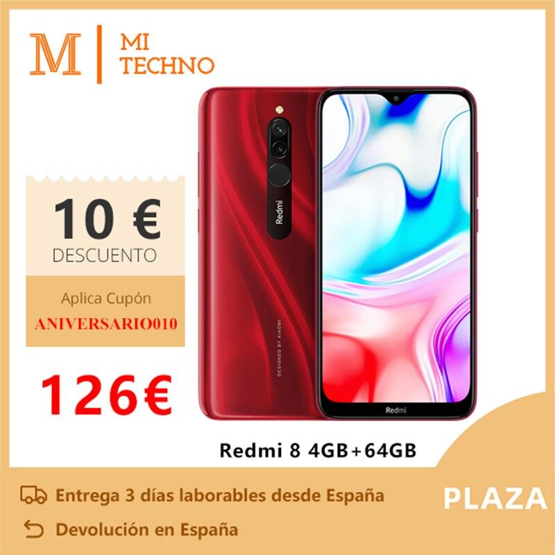 Xiaomi Redmi 8 Smartphone (4GB RAM 64GB ROM, Phone Mobile, Free, New, Cheap, Battery 5000 MAh) [Global Version]