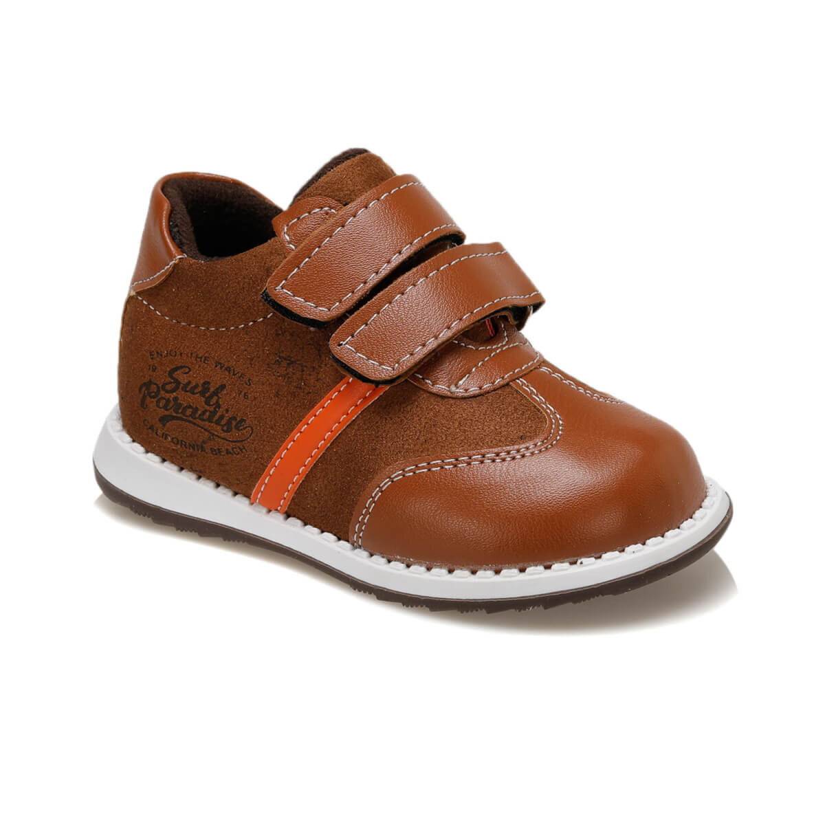 FLO 92.511713.B Brown Male Child Shoes Polaris